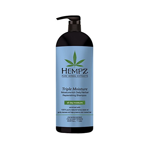 Hempz Triple Moisture-Rich Daily Herbal Replenishing Shampoo, Enchanted Grapefruit, 33.8 Fl. Oz