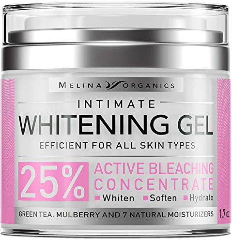 Skin Bleaching Cream for Face & Intimate Areas & Armpits – Natural Skin Care with Hyaluronic Acid, Lemon Essential Oil & Aloe Vera – Skin Whitening Intim Gel – 1.7OZ – Made in USA – Cream for Women