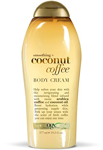 OGX Smoothing + Coconut Coffee Body Cream, 19.5 Ounce