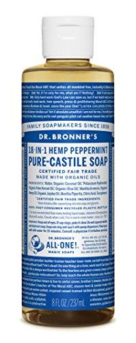 8 fl oz – Dr. Bronner's Organic Pure Castile Liquid Soap Peppermint
