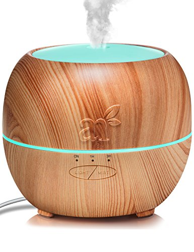 ArtNaturals Aromatherapy Essential Oil Diffuser – Adjustable Mist Mode, Auto Shut-Off and 7 Color LED Lights – Ultrasonic Aroma Humidifier – For Home, Office & Bedroom – 5.0 Fl Oz / 150ml Tank