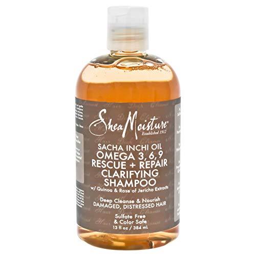 Shea Moisture Sacha Inchi Oil Omega-3-6-9 Rescue & Repair Clarifying Shampoo for Unisex, 13 Ounce