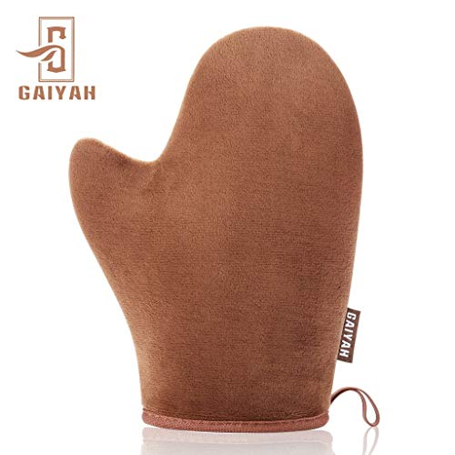 GAIYAH Self Tanning Mitt Applicator – Sunless Tanning Mitt Self Tanner Mitt Self Tanning Mit Self Tan Mitt Self Tanner Applicator Mitt Tan Applicator Mitt With Thumb Ultra Soft Tanning Glove
