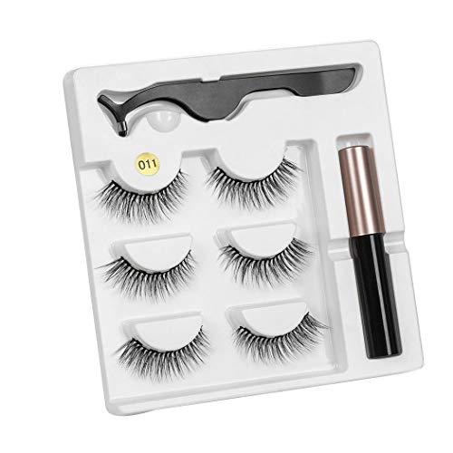 Sandinged Eyeliner Liquid Magnetic False Eyelashes Tweezer Set Eye Lashes Kit Women Makeup Lash Enhancers & Primers