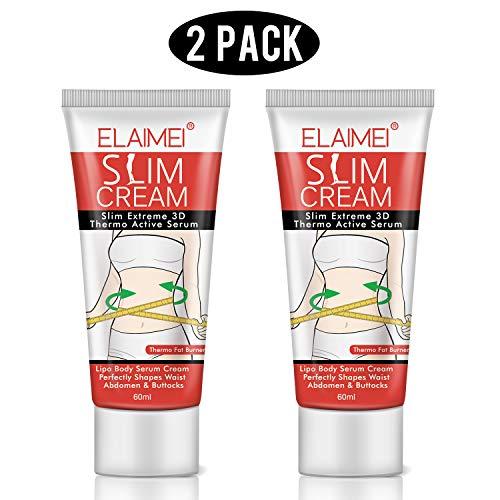 ELAIMEI Hot Cream 2 Pack, Body Fat Burning Cream, Weight Losing Cream, Anti-Cellulite Slim Massage Cream, Slim Cream for Shaping Waist, Abdomen and Buttocks.
