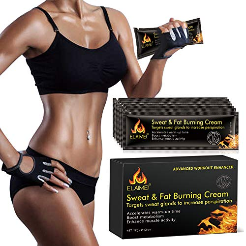 Hot Cream, Portable Workout Enhancer Sweat Cream, Fat Burning Cream for Women and Men, Slimming Cream for Weight Loss, Hot Gel Treatment for Shaping Waist, Abdomen and Buttocks10 pack