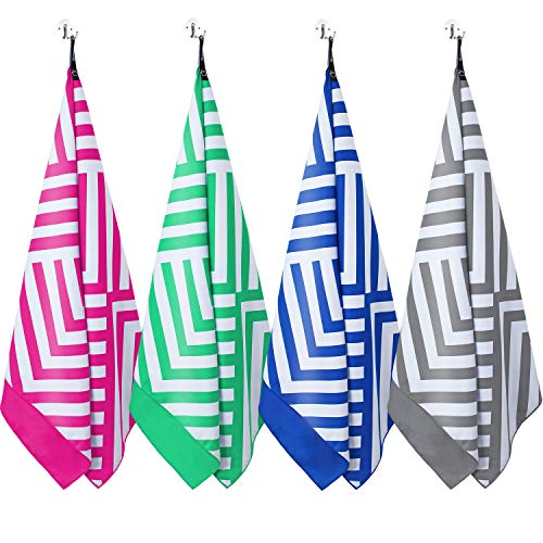 DARCHEN Microfiber Beach Towels Oversize Travel Beach Towel 1 Pack – Quick Dry Towel for Swimming, Sand Free Towel Large 63×31 inch for Kids Adult