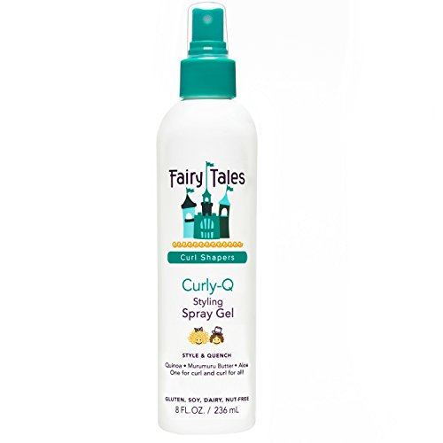 Fairy Tales Curly-Q Daily Kid Styling Spray Gel – Sulfate & Paraben Free – 8oz