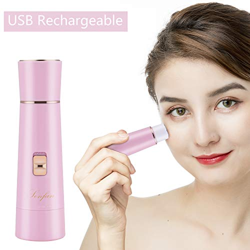 Facial Hair Removal for Women Rechargeable – 2019 USB Rechargeable Hair Remover Trimmer for Face, Armpit, Chin and Full Body, Best Gift for Women-Pink