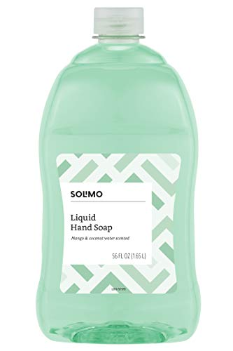 Solimo Liquid Hand Soap Refill, Mango and Coconut Water, 56 Fluid Ounce – Amazon Brand