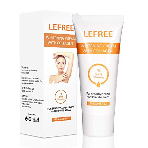 Lefree Underarm Whitening Cream for Sensitive & Private Areas,Intimate Skin Lightening Gel for Body, Face, Bikini and Sensitive Areas,60ml