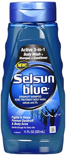 Selsun Blue Active 3-in-1 Dandruff Shampoo, 11 Ounce