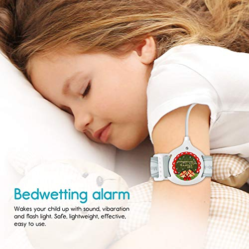 Bedwetting Alarm for Boys Girls Kids – Pee Alarm with Sound and Vibration to Cure Bed Wetting via Enuresis Sensors