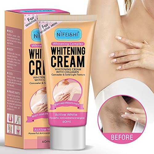 Natural Whitening Cream,Underarm Whitening Cream Effective for Lightening & Brightening Armpit, Knees, Elbows, Sensitive & Private Areas, Whitens, Nourishes, Repairs Skin,Get Rid of Dark Fast