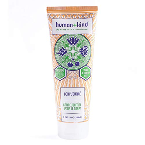 Human+Kind Body Souffle | Lightly Whipped Cream Moisturizer is Quickly Absorbed | Great for Dry or Eczema-Prone Skin | Natural, Vegan Skin Care | 6.76 fl oz