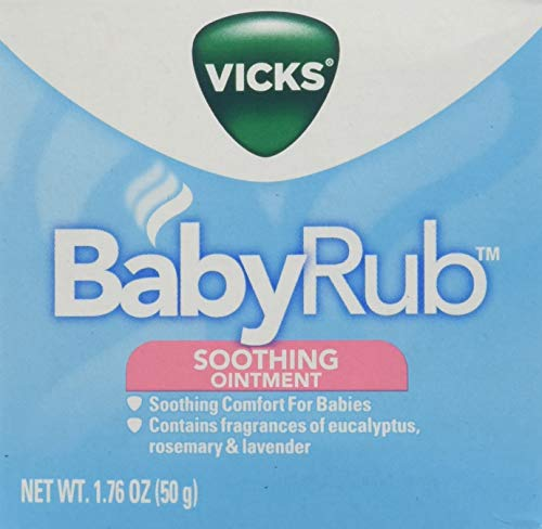 Vicks BabyRub Soothing Chest, Neck and Back Ointment 1.76 Oz, 2 Pack