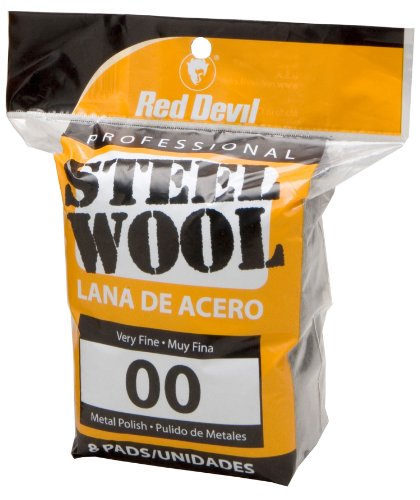 Red Devil 0322 Steel Wool, 00 Very Fine,  8 Pads