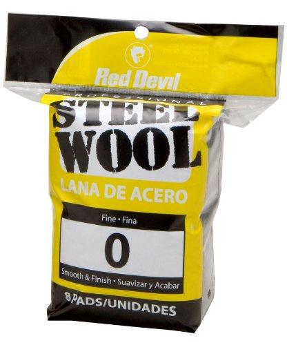 Red Devil 0323 Steel Wool, 0 Fine, 8 Pads