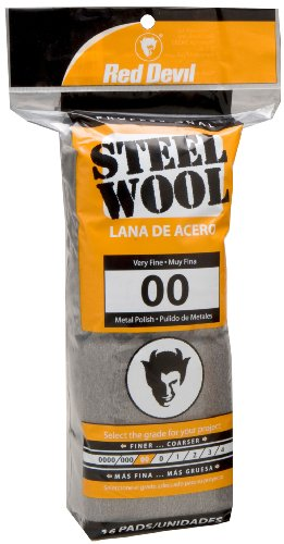 Red Devil 0312 Steel Wool, 00 Very Fine, 16 Pads