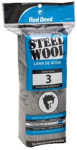 Red Devil 0316 Steel Wool, 3 Coarse, 16 Pads