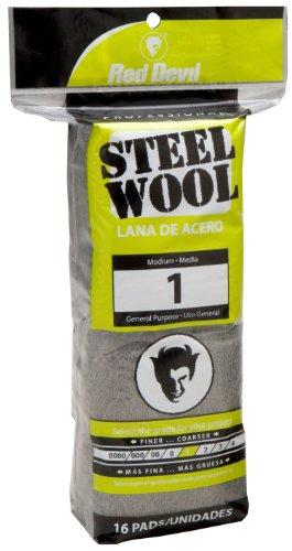Red Devil 0314 Steel Wool, 1 Medium, 16 Pads