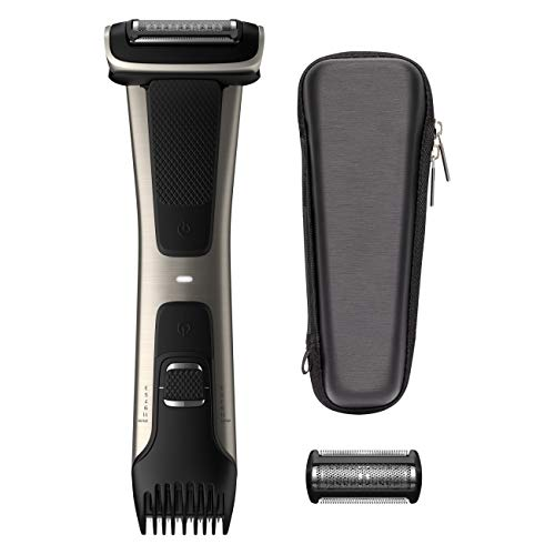 Philips Norelco Bodygroom Series 7000 Showerproof Body Trimmer & Shaver with Case and Replacement Head, BG7040/42