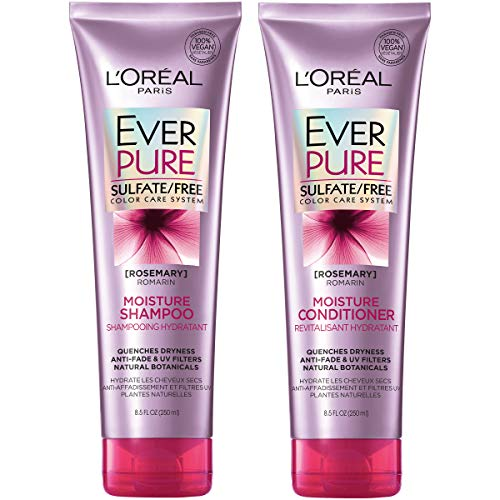 L'Oreal Paris Hair Care EverPure Moisture Sulfate Free Shampoo & Conditioner Kit for Color-Treated Hair, Moisturizes + Replenishes Dry Hair, 8.5 fl. oz. each
