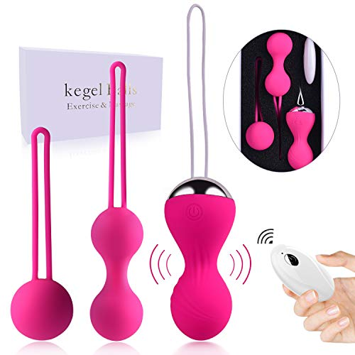 Kegel Balls for Beginners & Advanced Pelvic Floor Exercises, Silicone kegel Balls for Tightening with 3 Weights for Regaining Bladder Control – Kegel Exercise Weights for Women