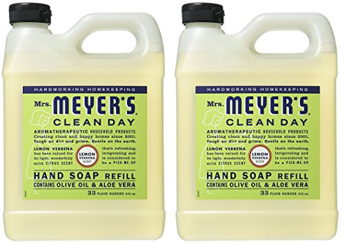Mrs. Meyers Liquid Hand Soap Refill Lemon Verbena, 2 Pack 33 oz