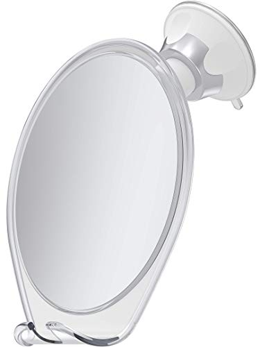 HoneyBull Shower Mirror for Shaving Fogless with Suction, Razor Holder & Swivel