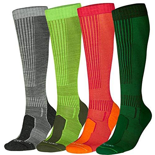 Merino Wool Long Knee-high Pink 1 Pair, US Kids 13-3