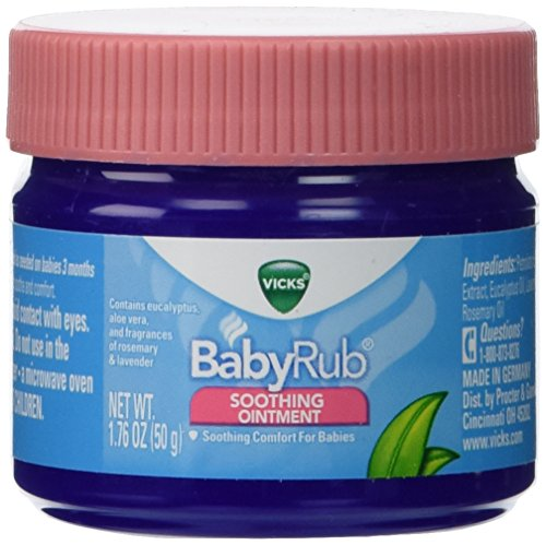 Vicks Baby Rub Soothing Ointment 1.76 oz. Pack of 3