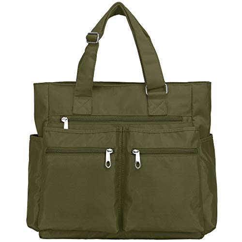 Top 8 Nylon Tote Bag for Women with Zipper and Pockets – Travel Tote Bags