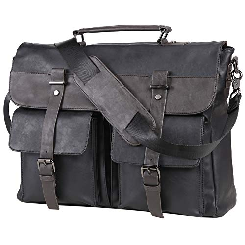 Top 10 Leather Computer Bags For Men 17.3 – Laptop Briefcases