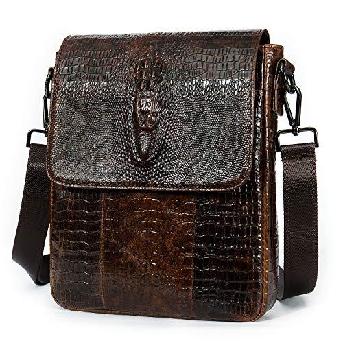 Top 10 Men Leather Bags Crossbody Crocodile – Messenger Bags