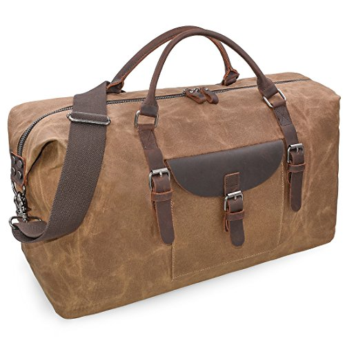 Top 10 Canvas Leather Duffle – Travel Duffel Bags