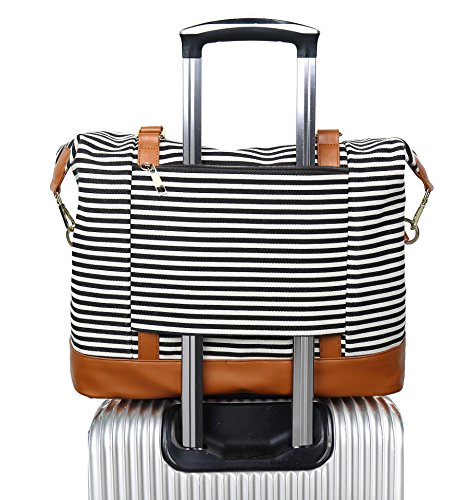 Top 10 Women Ladies Canvas Weekender Bag Overnight Carry-on Tote Duffel – Carry-On Luggage