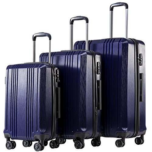 Top 10 Abs Luggage 3pc Set Hardside Suitcase Light Weight – Luggage Sets